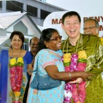 Thank you Penang! One of the residents could not hide her joy at receiving the keys to her new house.