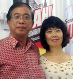 wong ho leng and wife