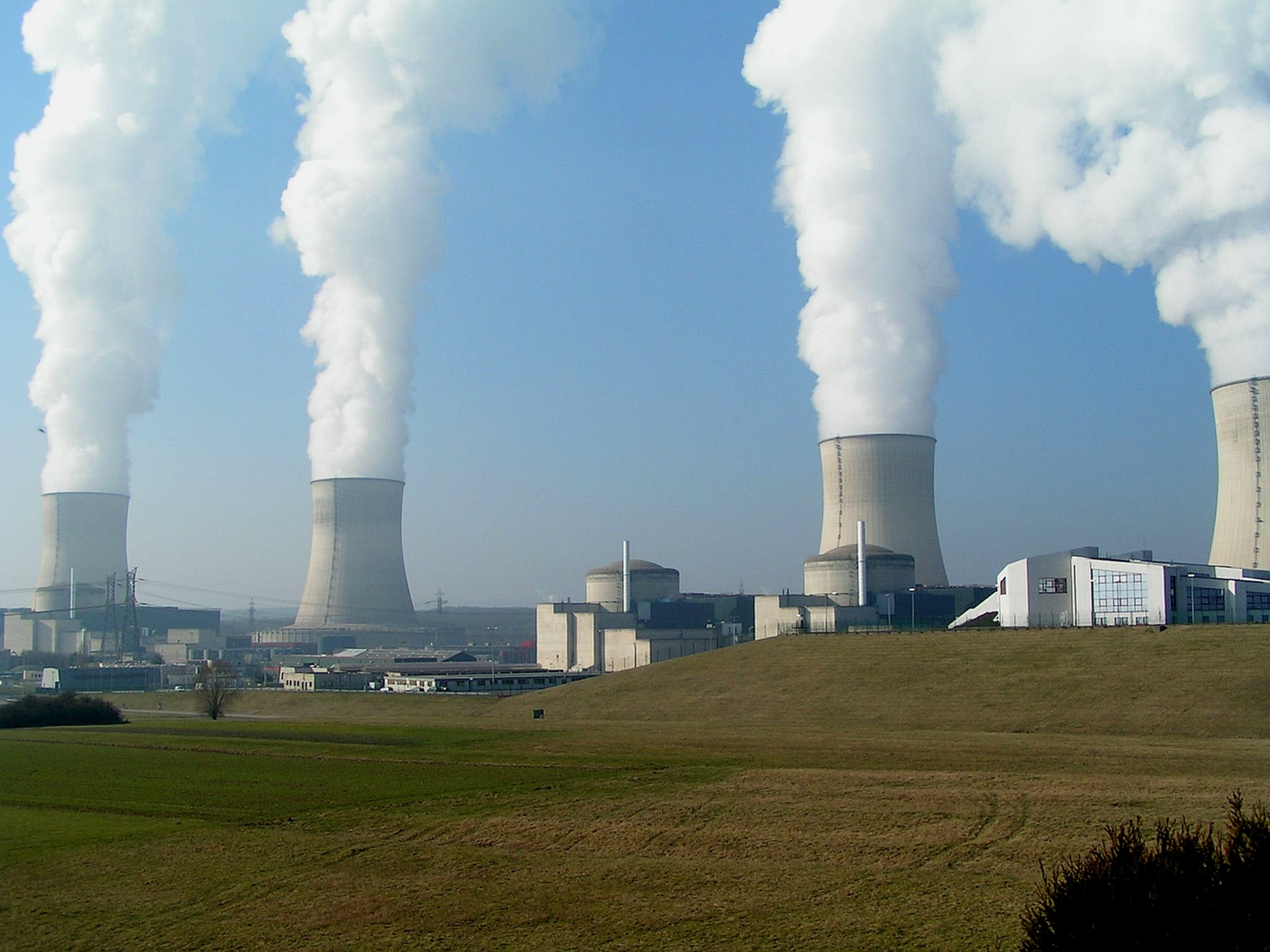 The Cattenom Nuclear power plant in France