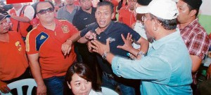 Azman Jaafar, who is believed to have started the fracas.