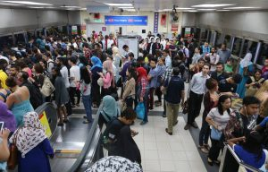 A shot of the LRT station where a breakdown caused massive congestion and frustration. (pic taken from says.com)